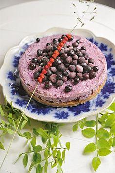 Raw blåbärs-cheesecake från Janesh Vaidyas kokbok Maten är min medicin