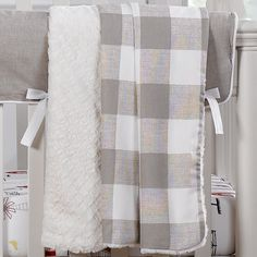 Shop farmhouse baby bedding with Liz and Roo. This buffalo check receiving blanket is perfect gender neutral baby blanket. Made in the USA. Ships quickly. Neutral Baby Blankets, Neutral Bed Linen, Neutral Bedding, Linen Bedding, Bedding Sets, Bed Linens, Boy Bedding, Comforter, Farmhouse Baby Bedding