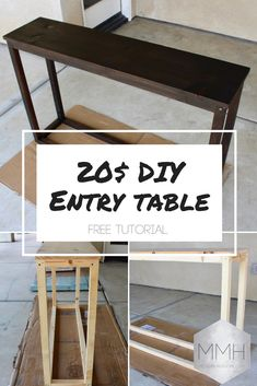 Free instructions for modern DIY Entry Table! - Free instructions for modern DIY Entry Table! Free instructions for modern DIY Entry Table!