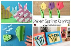 Fantastic collection of hands on and EASY Spring Crafts for Preschoolers! Many suitable for toddlers or together projects. Must see list. Love.
