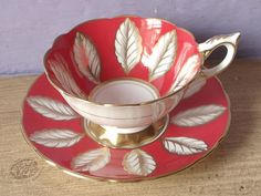Sammlung: antique and vintage pretty tea cup set in red by Tanja Shpal on Etsy