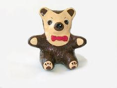 Brown Decorative Teddy Bear Sculpture Home Décor by labostyle, $35.00