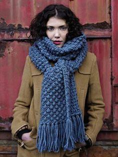 Free knitting pattern for blackberry / trinity stitch scarf and more scarf knitting patterns Knitting Patterns Free, Knit Patterns, Free Knitting, Free Pattern, Crochet Scarves, Knit Crochet, Free Crochet, Crochet Pattern, Big Wool