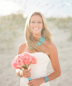 I like the idea of turquoise jewelry for my beach vow renewal in Sept 2013