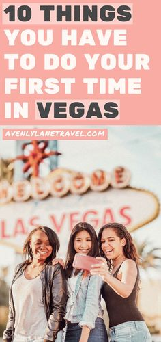 Top 10 Must do's in Vegas for First Timer's! The Welcome to Las Vegas Sign is one of the top attractions in Las Vegas! #vegas #lasvegas #travel #usatravel #vacation #summertravel #avenylanetravel