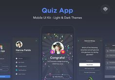 Quiz App - Mobile Trivia Game UI Kit by Nimart on @creativemarket