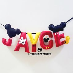 Mickey Mouse garland #name #banner