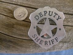 Deputy Sheriff Badge with pin back by COOLSTUFFGOODPRICES on Etsy, $4.99