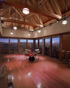 Log cabin, mountains, woods, drums, it really doesn't get any better!