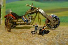 Tres ases del diseño de motos en miniatura
