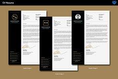 Design options - Clean Minimal CV/Resume Template pack - $6