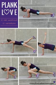 A 10-minute, all plank workout