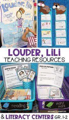 Louder, Lili by Gennifer Choldenko~A perfect book for teaching students about friendship, standing up for what is right, and finding your own voice. An effective story to help shy students, and to notice how what we say and do can change how others feel. Activities includes a character traits anchor chart, vocabulary, word work, retelling craft, printables, literacy centers, and culminating foldable with lots of activities for students to write about what they're reading.