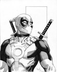 Deadpool up for auction by ReillyBrown.deviantart.com on @deviantART