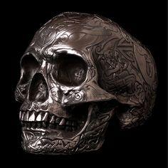 Crâne ou tête de mort celtique : vanité, décoration insolite - Edemonium