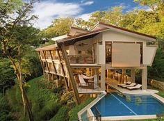 house on a hill near the ocean in costa rica. would love a week there with friends.