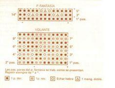 """Material:  5 Ovillos color nº 701 lanas Stop """"Dakar"""" Agujas nº 6 Puntos empleados:  punto jersey derecho punto fantasía ( ver gráfico) ..."""
