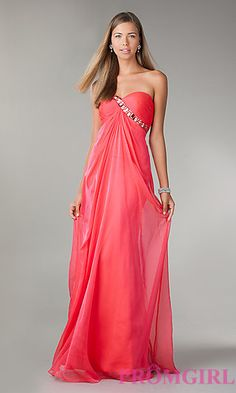 La femme long strapless dress 18774