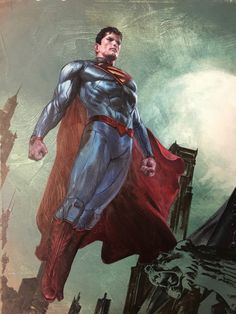 Gabriele Dell'otto — Batman and Superman Connecting Color Arte Do Superman, Superman Artwork, Batman Vs Superman, Superman Ring, Superman Stuff, Comic Book Characters, Comic Books Art, Comic Art, Superman Man Of Steel