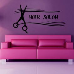 Hair Salon Wall Decals Fashion Wall Words by WallDecalswithLove