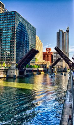 This happens in the spring and fall when the sailboats are on the move to or from the lake (Chicago River)