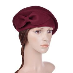 Vbiger Womens Beret Beanie Warm Wool Cap Hat  14.99 AT vintagedancer.com  1940s Hats 5445c8304bf5