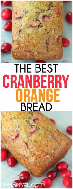 The best cranberry orange bread recipe! Use dried or regular cranberries and add some pecans for an easy and impressive bread that's so moist! You can even pretend that it's healthy with all the fruit in it, yum!