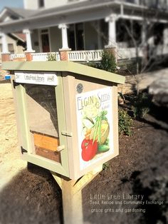 How creative - a book and SEED exchange box outside of her home. Nice community spirit!