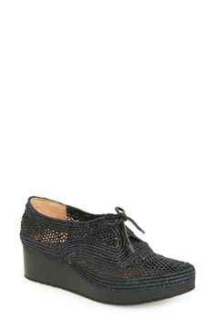 Robert Clergerie 'Vioclei' Lace Up Wedge (Women) available at #Nordstrom