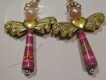 Ohrringe Engel gold pink