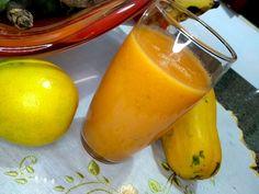 Jus d'orange et papaye pour une journée ultra vitaminée Fruit Orange, Fodmap, Jus D'orange, Stuffed Peppers, Vegetables, Food, Party Desserts, Fruit Cobbler, Kaffir Lime