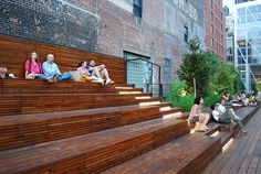 wood step seating - Google Search