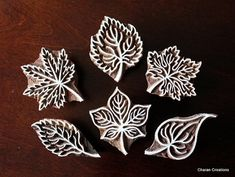 Pottery Stamps, Indian Wood Stamp, Textile Stamp, Wood Blocks, Tjaps, Printing Stamp- Leaves