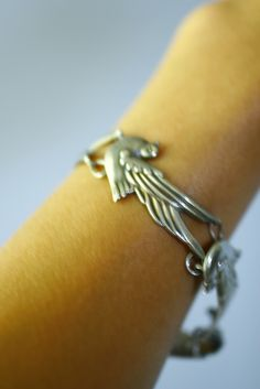 SOLD Vintage 40s Los Castillo Sterling Taxco Dove Bird Bracelet