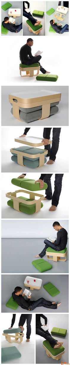 """Mister T""by Antoine Lesur, multifunctional furniture combination"