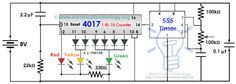 Traffic Light Control Electronic Project Using IC 4017 Counter amp 555