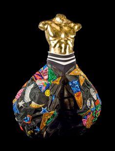 Gianni Versace - Pantalone da clown con motivi ricamati d'ispirazione futurista, Milano-Versace Spa - 1988 - Java Forever - Roland Petit - Parigi, Opéra Comique