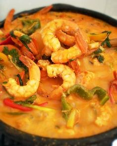 Brazilian Moqueca de Camarao (Shrimp Stew with dende oil & coconut milk)