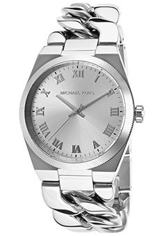 Women's Wrist Watches - Michael Kors Womens Quartz Stainless Steel Casual Watch ColorSilverToned Model MK3392 * For more information, visit image link.