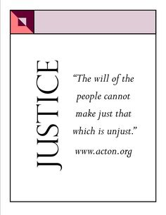 The will of the people and #justice