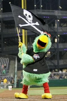Pirate's baseball mascot, Pittsburgh parrot, Pittsburgh, Pennsylvania