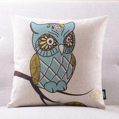 Cartoon owl pillow pattern animal decorative pillows for sofa