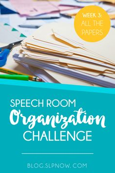 Every SLP has WAY too many paper materials! Between therapy materials, IEP documentation, and everything else, our rooms get cluttered and disorganized fast. Check out the list of tools in this post, all of which will help you organize the paper materials