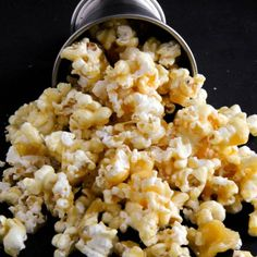 This caramel popcorn is sweet, salty, and a great way to fill that snack craving.