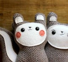 Bon Bon and Belchik the woodland squirrels (pair) – Made to Order