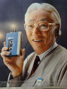 盛田 昭夫 Cassette Recorder, Tape Recorder, Radios, Sony Design, Sony Electronics, Audio Player, Hifi Audio, Boombox, Time Capsule
