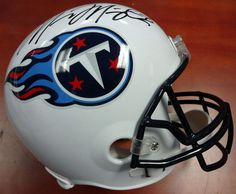 Marcus Mariota Autographed Tennessee Titans Full Size Replica Helmet MM Holo