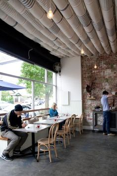 Coin laundry cafe in Melbourne: http://remodelista.com/posts/hotels-lodging-restaurants-coin-laundry-in-melbourne