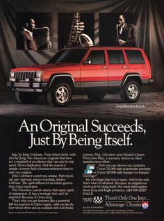 Classic Jeep cherokee advertising