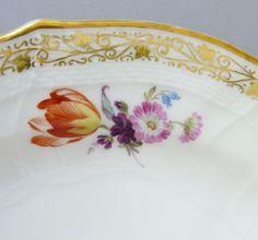 KPM Teller Neuosier, Blumen Malerei, Goldstaffage, 1.Wahl (2) in Antiquitäten & Kunst, Porzellan & Keramik, Porzellan   eBay